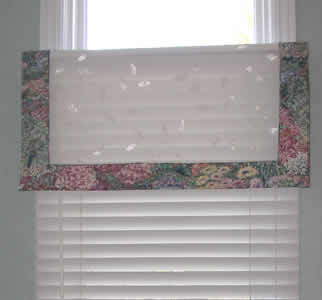 sheer valance with banding